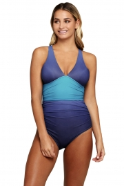 Wavy Ocean Flavor One Piece Swimsuit