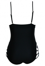 Padded Hollow Out One Piece Swimsuit
