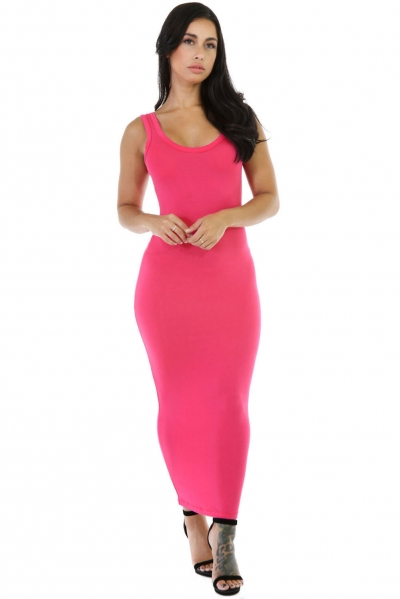 Rosy Stretchy Fit Long Sundress