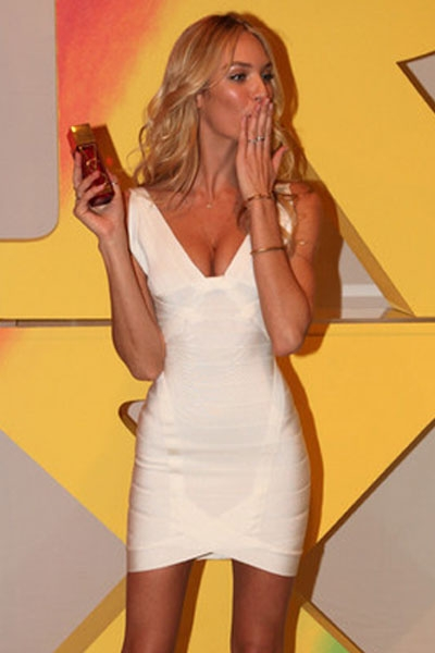 Celebrity Hot-selling White Bandage Dress