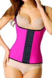 Plus Size Rosy Steel Boned Latex Waist Trainer Vest