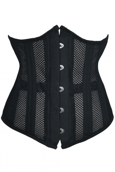 20 Steel Bone Support Mesh Hollow Out Waist Trainer