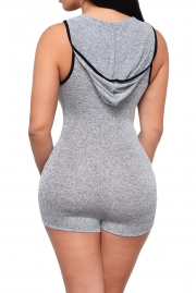 KILLIN IT Sleeveless Hoodie Romper
