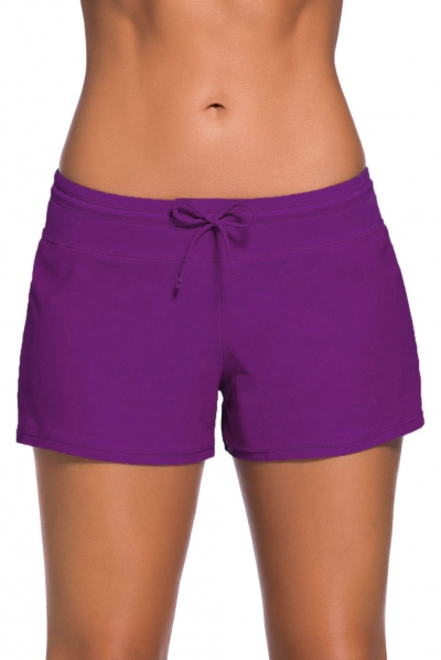 Purple Women Swim Boardshort