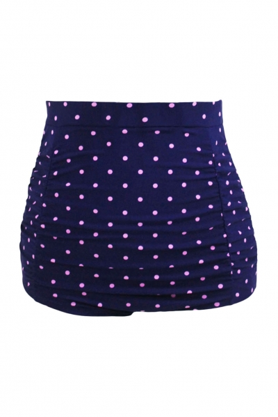 Polka Dot Print Plus Size High Waist Swim Bottom