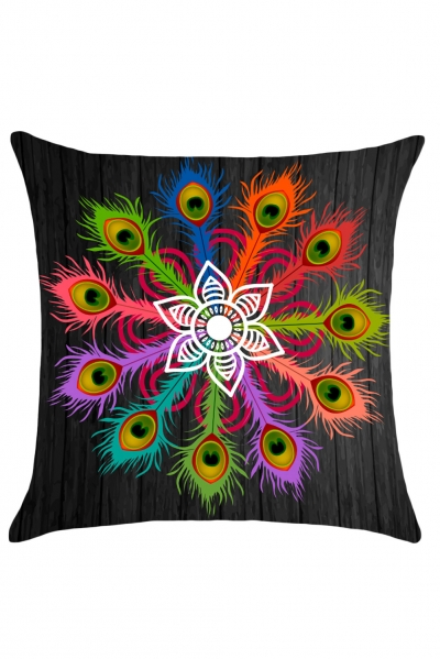 Peafowl Floral Print Cushion Pillow Cover