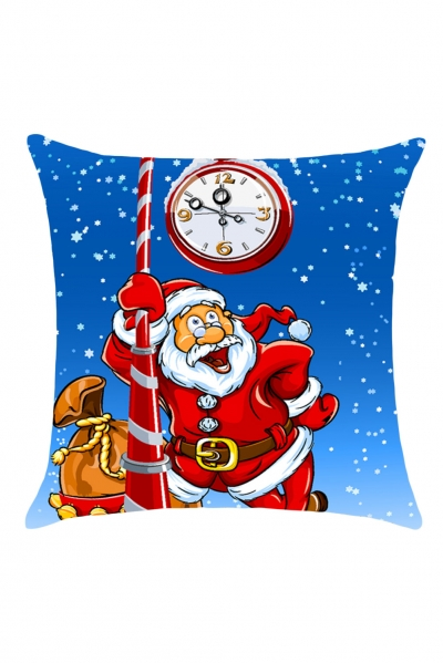 Santa Claus Pattern Home Decor Throw Pillow Case