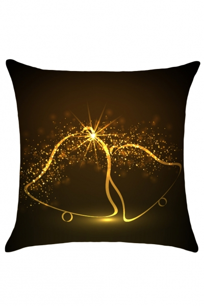 Sparkling Christmas Bells Pattern Cushion Cover