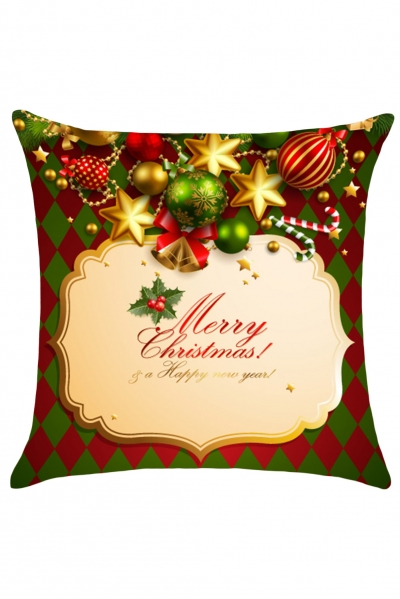 Merry Christmas Card Print Pillow Case