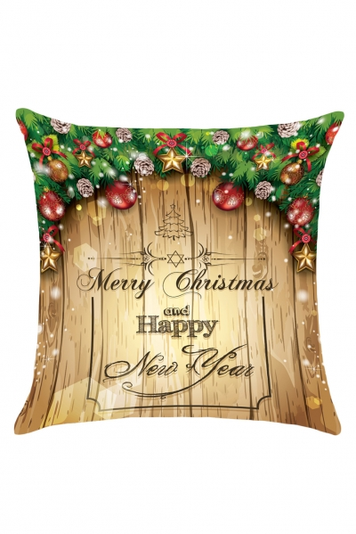 Merry Christmas Decorations Pattern Throw Pillow Case