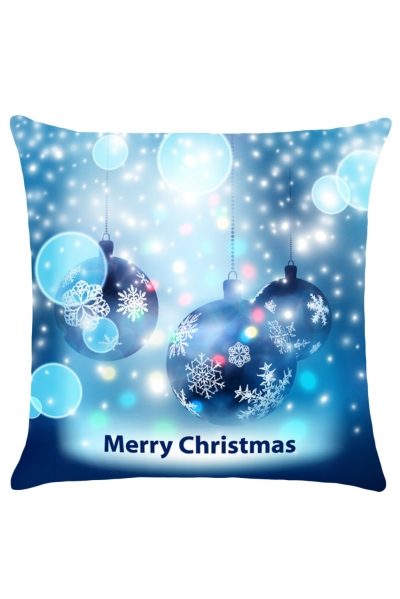 Christmas Snowflakes Balls Printed Cushion Case