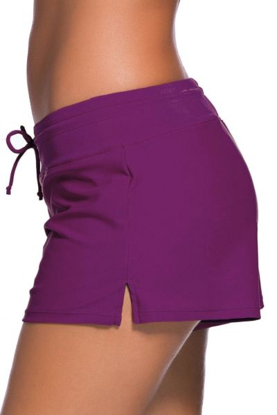 Purple Women Swim Boardshort zekela.com