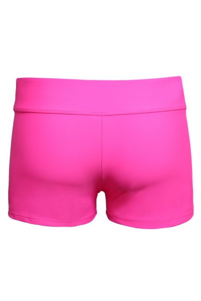 Rosy Wide Waistband Swimsuit Bottom Shorts zekela.com