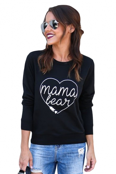 Mama Bear Sweatshirt in Black ZEKELA.com