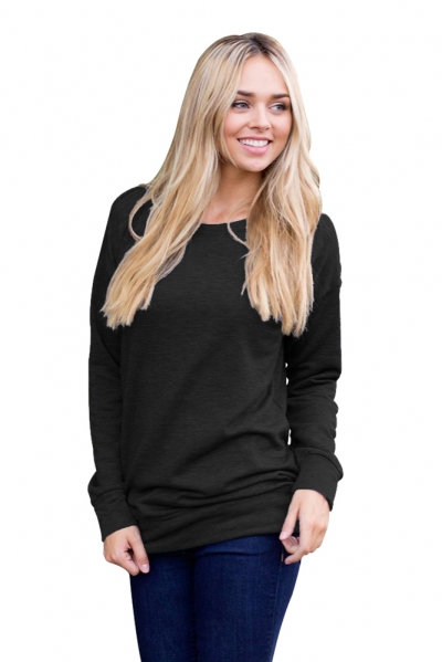 Black Rays Back Pullover Sweatshirt